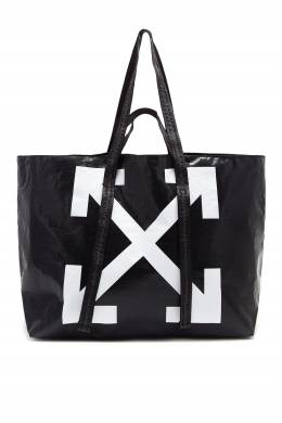 Черная сумка-шоппер Commercial Off-White 2202148899