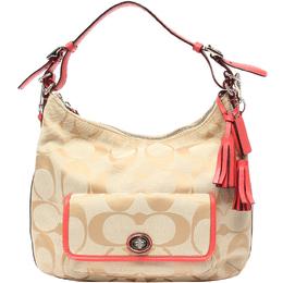 Coach Two Tone Signature Canvas Shoulder Bag 219339