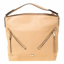 Michael Kors Beige Leather Large Evie Shoulder Bag 219867