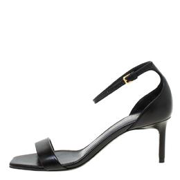 Saint Laurent Paris Black Open Toe Ankle Strap Sandals Size 35 219824