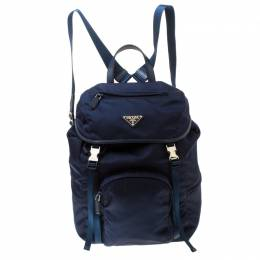 Prada Navy Blue Nylon Backpack 219820