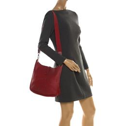Hermes Rouge Garance Clemence Leather Evelyne III PM Bag 218932
