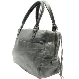 Balenciaga Grey Leather Agneau Shoulder Bag 218764