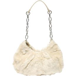 Burberry White Fur Chain Shoulder Bag 218785