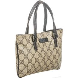Gucci Beige/Ebony GG Supreme Coated Canvas Bag 215572