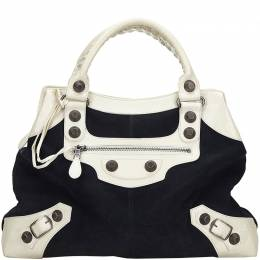 Balenciaga Two Tone Leather And Suede Giant 21 MIdday Bag 214616