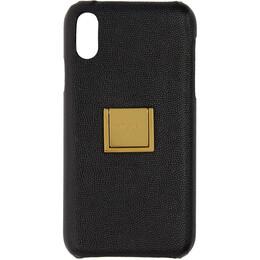 Saint Laurent Black Leather Ring iPhone XR Case 192418F03200301GB