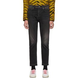Saint Laurent Black Straight-Fit Jeans 192418M18600407GB
