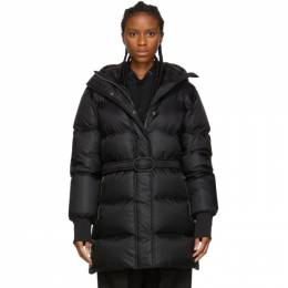 Kenzo Black Down Belted Puffer Jacket 192387F05900605GB