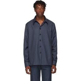 Gucci Blue Drill Military Shirt 192451M19202204GB