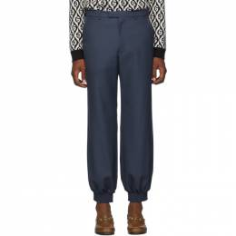 Gucci Blue Military Drill Trousers 192451M19102704GB