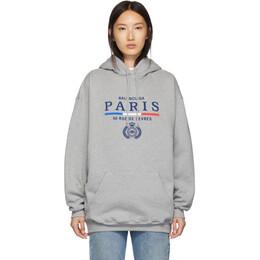 Balenciaga Grey Paris Flag hoodie 192342F09700502GB