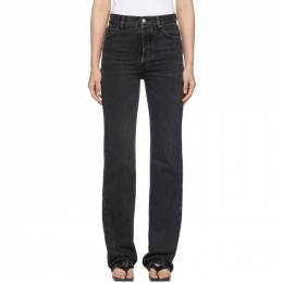 Balenciaga Black Streaky Japanese Denim Jeans 192342F06900306GB