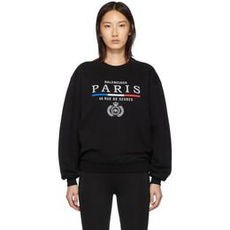 Balenciaga Black Paris Flag Sweater 192342F09601603GB