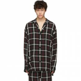 Balenciaga Black Check Pajama Shirt 192342M19202204GB