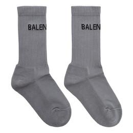 Balenciaga Grey New Logo Socks 192342F07600701GB
