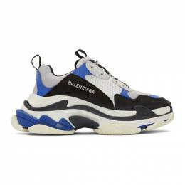 Balenciaga Black and Blue Triple S Sneakers 192342M23702904GB