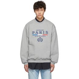 Balenciaga Grey Paris Flag Sweatshirt 192342M20400604GB