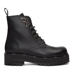 Fendi Black Biker Boots 8T6961 A7NH