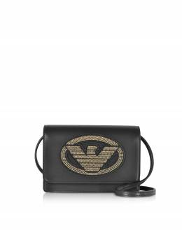 Маленькая Сумка с Логотипами Emporio Armani Y3B086 YGE1X 88441 Black / Gold