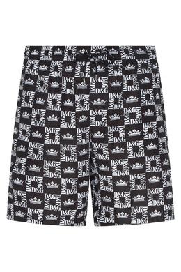 Черные шорты с надписями Dolce&Gabbana 599146623