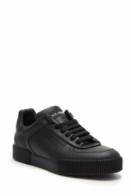 Черные кожаные кроссовки Dolce&Gabbana 599146714