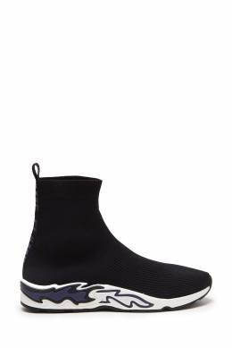 Черно-синие кроссовки Flame Sandro 914149654