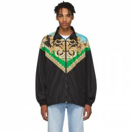 Versace Green and Blue Barocco Track Jacket 192404M18000301GB