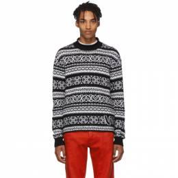 Versace Black and White Jacquard Sweater 192404M20100204GB