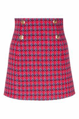 Короткая юбка с ярким узором Sandro 914149667