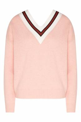 Розовый джемпер с глубоким вырезом Sandro 914149665