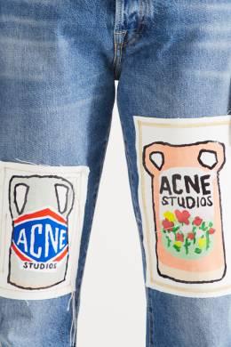 Хлопковые джинсы с аппликациями Acne Studios 876149687
