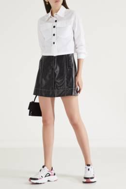 Белая рубашка с накладными карманами Maje 888149618