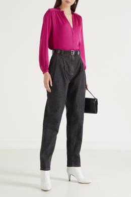 Атласная блуза ярко-розового цвета Maje 888149622
