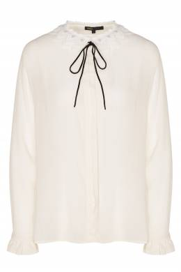Белая блуза с декорированным воротником Maje 888149620