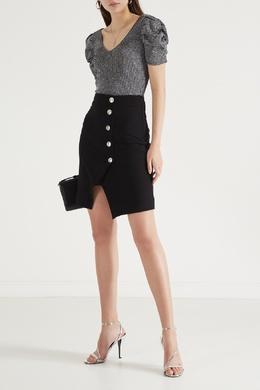 Черная юбка с запахом Maje 888149612