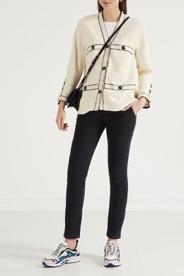 Черные джинсы с кокеткой Maje 888149615