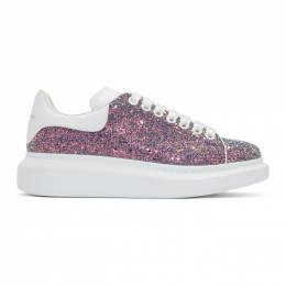 Alexander McQueen Multicolor Shell Glitter Oversized Sneakers 192259F12805009GB