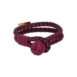 Bottega Veneta Red Intrecciato Double Bracelet 192798F02000302GB