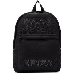 Kenzo Black Large Tiger Kampus Backpack 192387F04200901GB