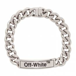 Off-White Silver Sweetheart Choker Necklace 192607F01000101GB