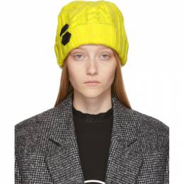 Off-White Yellow Knit Pop Color Beanie 192607F01400801GB
