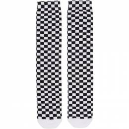 Off-White Black and White Check Socks 192607F07601901GB