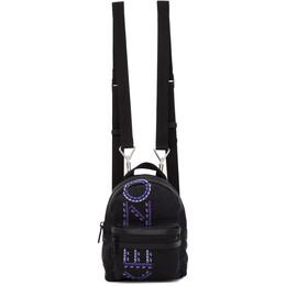 Kenzo Black Mini Embroidered Backpack 192387F04201901GB