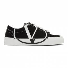 Valentino Black and White Tricks Low-Top Sneakers 192476F12800109GB