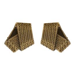 Balenciaga Gold Mesh Earrings 192342F02200901GB