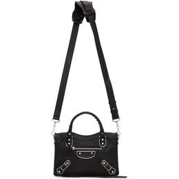 Balenciaga Black Croc Mini City Bag 192342F04735901GB