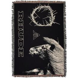 Rhude Black Ring and Horse Blanket 192923M28200301GB