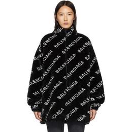 Balenciaga Black Faux-Fur Zip Jacket 192342F06300604GB