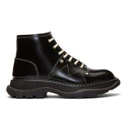 Alexander McQueen Black Tread Lace-Up Boots 192259F11300813GB